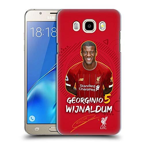 Head Case Designs Oficial Liverpool Football Club Georginio WIJNALDUM Negro 2019/20 Primer Equipo Grupo 1 Carcasa rígida Compatible con Samsung Galaxy J5 (2016)