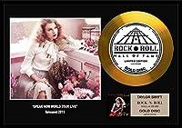 10種類! テイラー・スウィフト/Taylor Swift/gold disc album/24金ゴールド ディスク/platinum disc album/プラチナディスク証明書付きフレーム/ディスプレイ/cd [並行輸入品] (Speak Now World Tour Live-7, GOLD DISC)