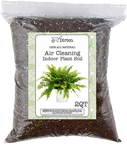 Air Cleaning Indoor Plant Soil Mixture, Gardening Soil Amendment and Clean Air Plant Soil Media, 2qt