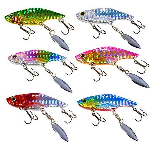 FNAPE 6 piezas spinning pesca señuelos pesca señuelos de pesca spinning señuelos lubina (16g) señuelos de pesca peces artificiales pesca