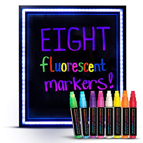 Green Light Innovations Dry Erase Markers – 8 x 8mm Parallel Tip Fluorescent Neon Marker Pens for LED Message Boards, Whiteboards, and Windows - Instant Impact for Your Notices – Low-Odor, Easy Clean Photo #8