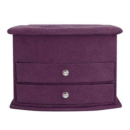 OIHODFHB 3 capas de joyería portátil pendientes anillos pulsera collar caja organizador almacenamiento