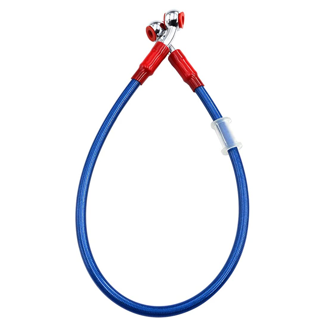 はがき忠誠フィットAHL ブレーキ ホース クラッチ オイル ホース メッシュホース 70CM 油圧 (ブルー)