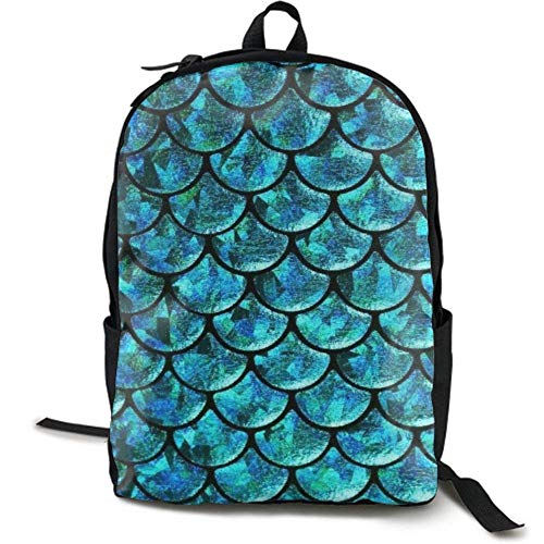 XCNGG Mochila de impresión de fotograma completo para adultos Mochila informal Mochila Mochila escolar NiYoung Travel Backpack Laptop Backpack Large Diaper Bag - Mermaid Fish Scales Backpack School Ba