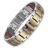 University Trendz 321 Pcs Magnetic Infrared Germanium Negative Ions Men's Bracelets, New Health
