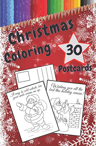 Christmas Coloring Postcards: Handmade Tear-Out Cards to Color and Share | Create Your Own Blessings | Funny Quotes | Gift Tags | Book for Adults and Kids