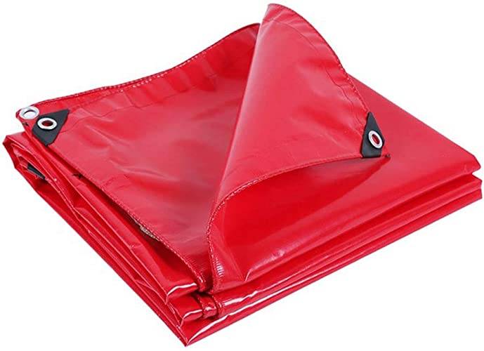 Bache extérieure épaisse pour bache imperméable, idéale pour couverture de tente, bateau, camping-car ou piscine, rouge, 500g   m2 (taille   2×4m)