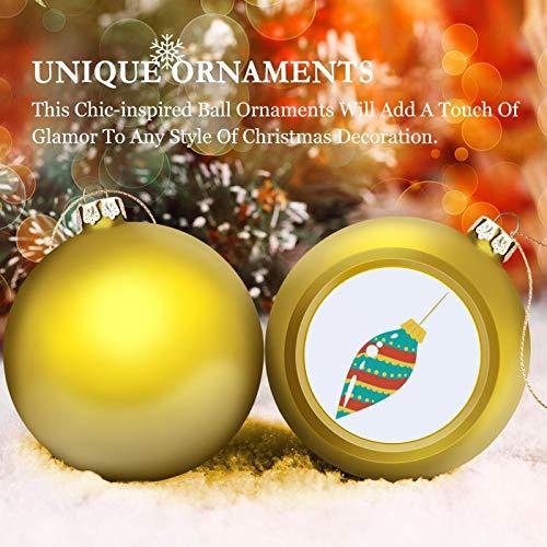 None-brands 3' Christmas Ornament Balls, Christmas Baubles, Colorful Mid Century Christmans Ornament-up, Christmas Tree Decorations Baubles, Ornaments for Christmas Birthday Wedding Decor