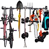 Tool Storage Rack - Adjustable Wall Mount Tools Storage System Heavy Duty Tools Hanger, Garage shed basement workshop Storage (55.5 inch) (55.5)