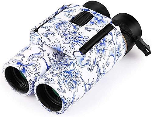 Telescopio telescopio ottico con zoom 10X25 HD con binocolo tascabile cinese in porcellana blu e bianca per campeggio, escursionismo, caccia, concerto, birdwatching, telescopio, binocolo, binocolo