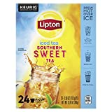 Lipton Iced Tea K-Cup Pods For a Cold Beverage Sweet Tea Made With Real Tea Leaves 24 Count