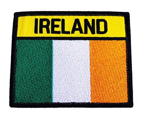Karma Patch Toppa Ricamata con Bandiera dell'Irlanda, 9,5 cm, per Softair, Paintball, Arti Marziali, Esercito Irlandese
