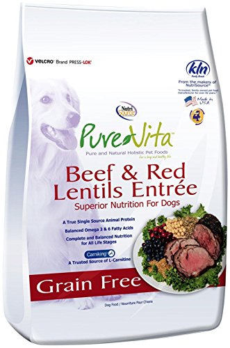 Nutri Source Pure Vita Grain Free Beef & Red Lentils, 25-Pound