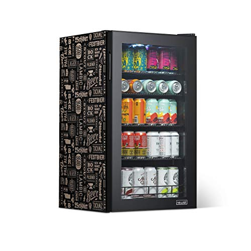 NewAir 126 Can Freestanding Beverage Fridge, Stainless Steel