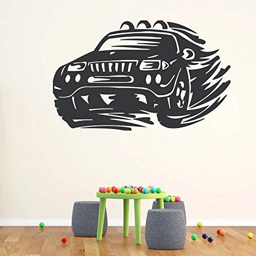 Tianpengyuanshuai Supercar muurstickers terreinwagen versnelling wiel koplamp vinyl venster sticker garage slaapkamer decoratie