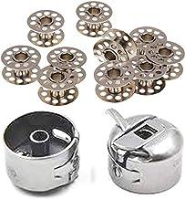 Mancloem Metal Sewing Machine Bobbins for Singer/Usha/Sapna/Merit/Brother/Zenith 10 Bobbins and 1 Bobbin Case