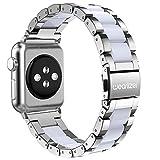 Apple Watch バンド/Apple Watch 2バンド,Wearlizer アップルウォッチ ベルト ステンレス 軽量 調整工具付 42mm シルバー