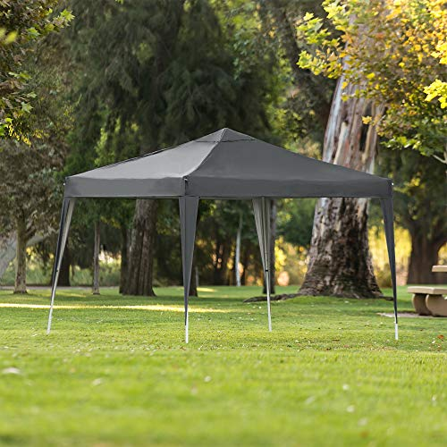Best Choice Products Outdoor Portable Adjustable Instant Pop Up Gazebo Canopy Tent w/Carrying Bag, 10x10ft - Dark Gray