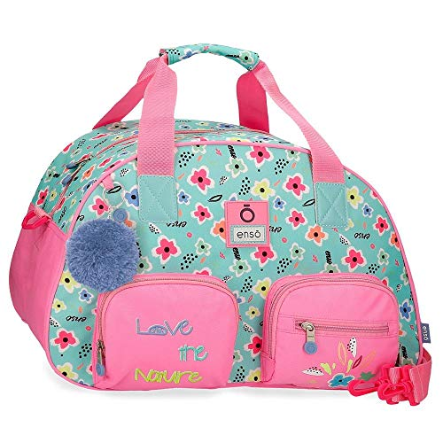 Enso Love The Nature Bolsa de Viaje Multicolor 45x28x22 cms Poliéster 27,72 L