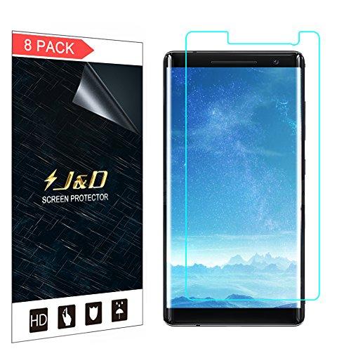 JundD Kompatibel für 8er Set Nokia 8 Sirocco Bildschirm Schutzfolie, [Ganze Deckung] Premium HD-Clear Schutzfolie für Nokia 8 Sirocco