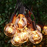 String Lights, Silikang 25Ft G40 Globe Waterproof  String Light with Bulbs-UL Listd for Indoor/Outdoor Commercial Decor Use Weatherproof Light Tents Market CafePorch Backyard Bistro Party