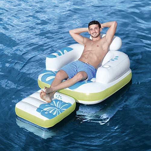 YIZHIYA Fila Flotante Inflable,175×107 CM Cama Inflable de una Hamaca Flotante de una Sola Fila,Tumbona al Aire Libre del Flotador de la Piscina,Fiestas en la Piscina de Juguetes acuáticos de Verano