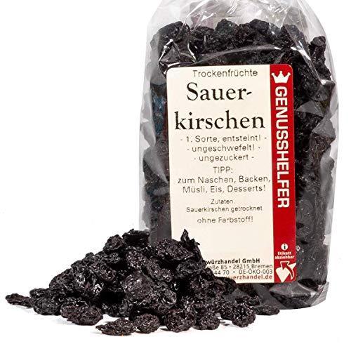 Sauerkirschen, Trockenfrüchte, 125 Gramm, entsteint, ungeschwefelt, ohne Zusatzstoffe, ohne Geschmackstverstärker - Bremer Gewürzhandel