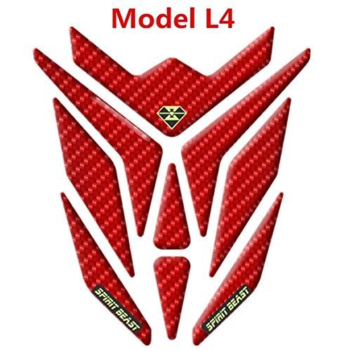 Red Universalmotorrad 3D Gel Fuel Tank Pad Cap-Schutz-Abdeckung Abziehbild-Aufkleber for Yamaha Suzuki Kawasaki Honda KTM BMW (Color : L4)