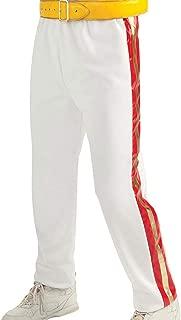 Freddie Mercury Queen Concert Red Golden Stripes White Faux Biker Leather Pants