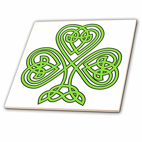 3dRose ct_108308_2 Celtic Shamrock-Ceramic Tile, 6-Inch