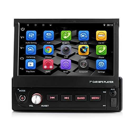 iFreGo Andriod 6.0.1 Single DIN AUTORADIO MIT GPS Navigation NAVI USB SD Bluetooth Autoradio GPS USB MP3 Moniceiver Naviceiver inkl. Europa Karten +Micro-SD-Kartenslot + Dual USB Anschluss