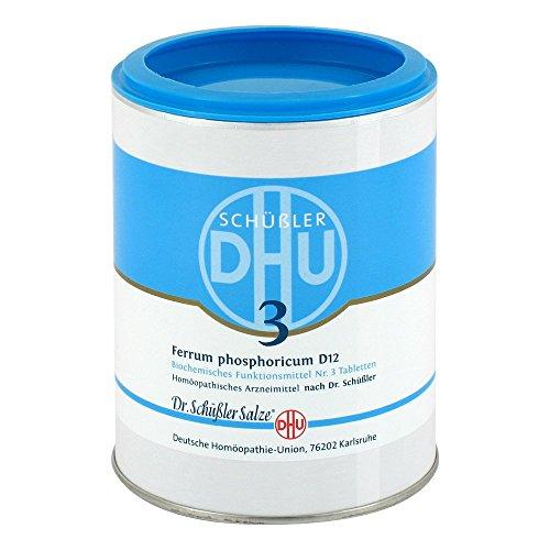 DHU Schüßler-Salz Nr. 3 Ferrum phosphoricum D12 Tabletten, 1000 St. Tabletten