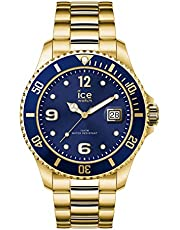 Ice-Watch - Ice Steel Gold Blue - Orologio Unisex con Cinturino in Metallo - 016761, Medium, Oro