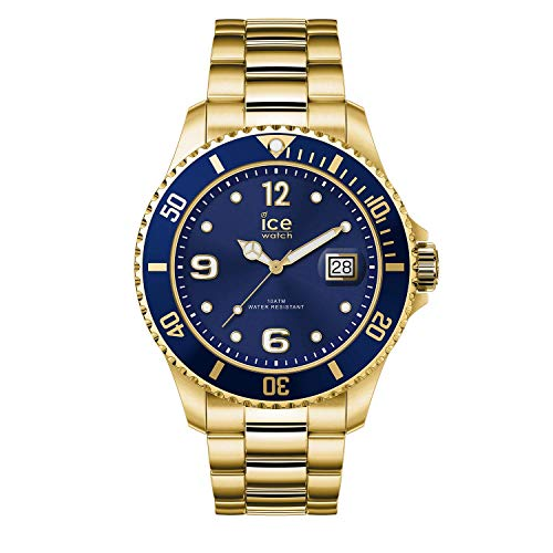Ice-Watch - ICE steel Gold blue - Men's wristwatch with metal strap - 016762 (Large)