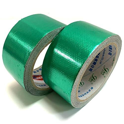 【Angelicate】超強力 補修テープ 粘着 防水 テープ 2個セット テント トラックシート 土嚢 屋外 幅5�p 長さ8M 選べるカラー (グリーン)