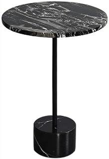 WZHZJ Coin marbre Naturel Salon Canapé Table d'appoint Chambre Simple Petit Côté Table
