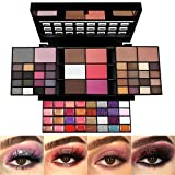 All In One Makeup Gift Kit,Professional 74 Colors Makeup Set Combination Palette for Women - 36 Eyeshadow, 28 Lip Gloss, 3 Blusher, 4 Concealer, 3 Contour Powder, 3 Brushes, 1 Mirror
