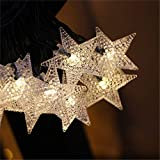 Solar Lichterketten Garten, Led Sterne Lichterketten Outdoor Solarbetriebene Led Sterne Lichterketten Wasserdicht Dekoratives Licht Für Gartenterrasse Hof Startseite Hochzeitsfeier