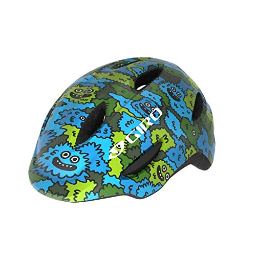 Giro Unisex Jugend Scamp MIPS Fahrradhelm Youth, Blue/Green Creature camo, XS (45-49cm)