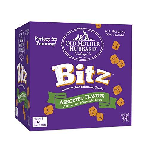 Old Mother Hubbard Bitz Natural Crunchy Dog Training Treats, Chicken, Liver & Veggies, 20-Pound Box