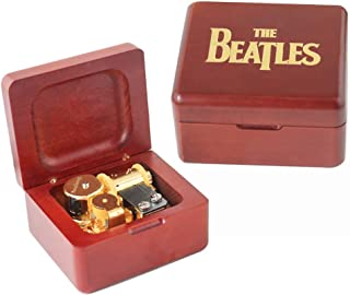 YouTang The Beatles Music Box Carved Wood Musical Box Wind Up Gold Mechanism Mucial Gift for Christmas,Birthday,Valentine's Day