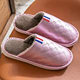 ypyrhh Zapatillas de espuma de memoria para hombre, zapatos de algodón para parejas, zapatillas antideslizantes impermeables - púrpura_40-41, Zapatillas de espuma viscoelástica para hombre