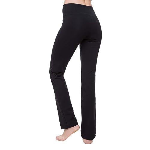 dc34e515cf0a3 NIRLON Yoga Pants for Women Best Black Leggings Straight Leg 28