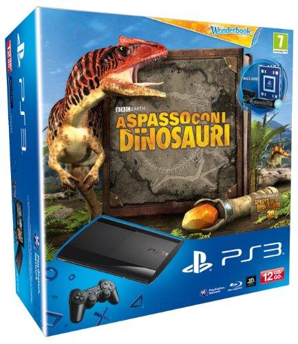 Sony PS3 12GB + A Spasso con i Dinosauri + WB + SP Move - juegos de PC (PlayStation 3, IBM Cell Broadband Engine, RSX, 12 GB, 10, 100, 1000 Mbit/s, 802.11b, 802.11g) Negro