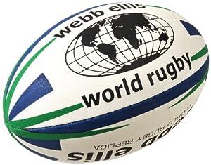 Webb Ellis Men's World Rugby Ball - Navy/Green, Size 4 from Webb Ellis
