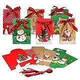 STOBOK Boîtes à Bonbons de Noël avec Ruban 24Pcs 11 5 X 7 5 X 16 8 Cm en Carton Boîtes à Bonbons Du Réveillon de Noël Boîtes-Cadeaux Portables pour Le Festival de Noël pour Le Chocolat