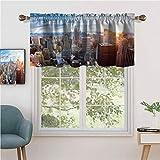Hiiiman - Cortina para ventana de privacidad para interiores (2 unidades, 137 x 61 cm), para puertas correderas de patio o comedor