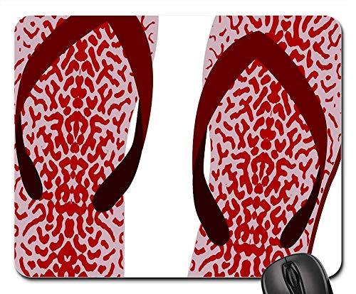 N\A Alfombrilla para ratón - Chanclas Zapatillas Zapatillas de Playa Corazón Verano