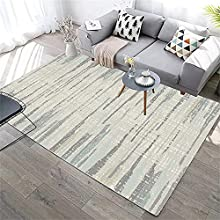 alfombras de Dormitorio Matrimonio Gris Alfombra de Sala de Estar Gris borrosa Rayada Retro Dormitorio Alfombra Anti-ácaros Alfombra Lavable Salon 50X80CM alfombras Infantil 1ft 7.7''X2ft 7.5''