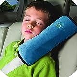 GEiNNOVA - Cojín para cinturón de seguridad de coche, cojín para niños, soporte para la cabeza del bebé, para dormir mientras viajas, color azul